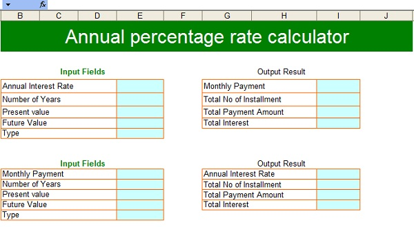 Apr Calculator  CalculatorallCom